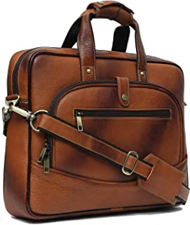Wildhorn Genuine Leather Hand-Crafted Messenger Bags, Brown, 35 cm - WHMB535