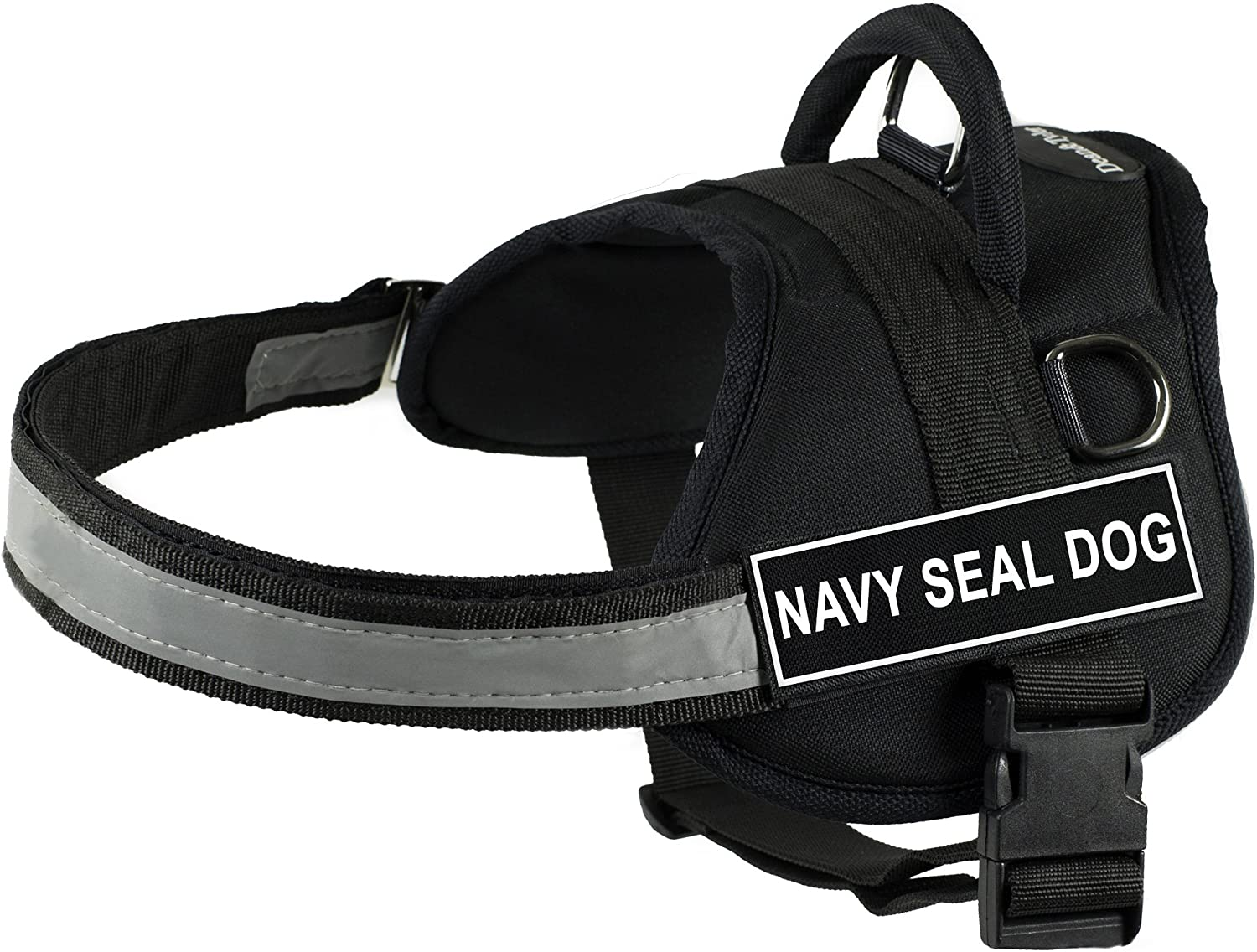 Dean & Tyler 21Inch to 26Inch Pet Harness, XSmall, Navy Seal Dog, Black