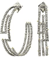 Alexis Bittar - Crystal Encrusted Maze Hoop Earrings