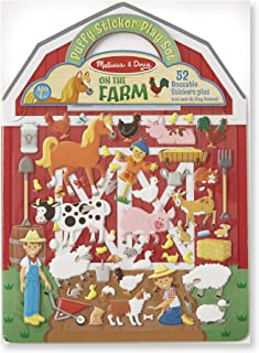 Melissa & Doug On the Farm Puffy Sticker Play Set (Activity Pads, Reusable Puffy Sticker Play Set, 52 Stickers, Great Gift for Girls and Boys – Best for 4, 5, 6, 7 and 8 Year Olds)