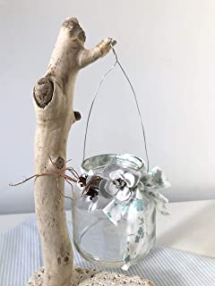 Lanterna con legno di mare