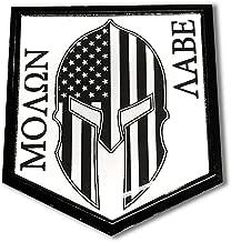 Proud Store Online Molon Labe Spartan Domed Gloss Black Emblem 3D Sticker 2