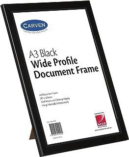 CARVEN 40052 Document Frame Plastic, Black A3