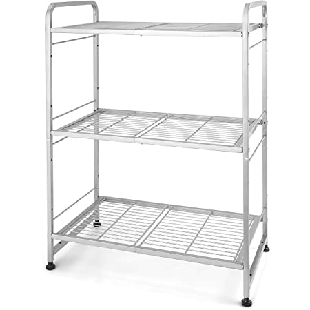 Seville Classics Steel Wire Classics 3 Tier Ultrazinc Cabinet Organizer 17 5 W X 7 5 D X 18 5 H Furniture Decor
