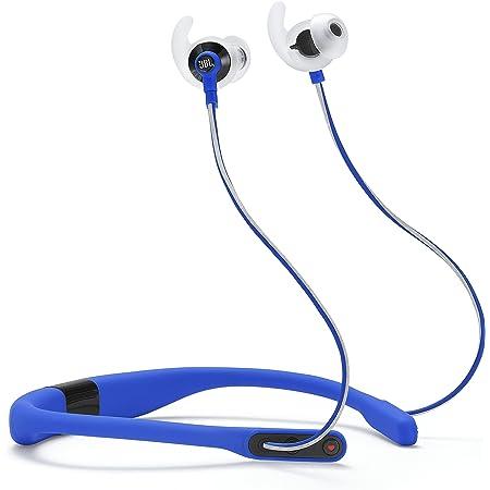 JBL REFLECT FIT Bluetoothイヤホン ネックバンド型/IPX5 防滴防汗仕様/通話可能/心拍数計測機能搭載 ブルー JBLREFFITBLU 【国内正規品/メーカー1年保証付き】