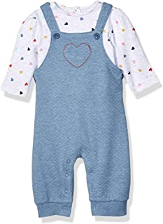 Little Me Baby-Girls LCN08715N Knit Overall Sets Overalls