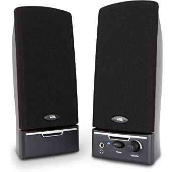 Cyber Acoustics 4 Watt 2.0 Computer Speaker System - Black (CA-2014)