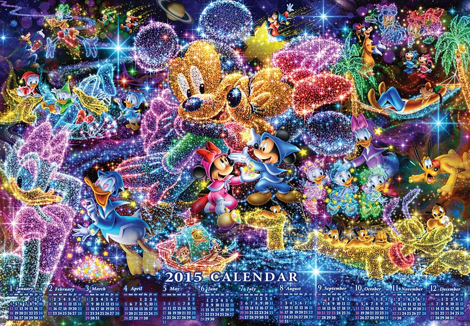 mas preferencial 1000 piece jigsaw puzzle puzzle puzzle Disney calendar to the Estrellas ( 2015 Calendar Jigsaw ) D-1000-439 wishes by Tenyo  venderse como panqueques