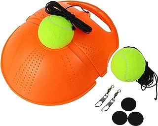 Xfitpro Set - Tennis Rebounder, Springen Tennis Trainer Rebound, Tennis Self Training Tool, Tennis Practice Rebounder, Solo Tennis Trainer Rebound Ball with String, 2 Strong Return Strings 2 Balls.