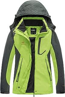 Women Windproof Hooded Waterproof Rain Jacket Lightweight for Hiking
