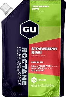 GU Energy Roctane Ultra Endurance Energy Gel, Strawberry Kiwi, 15-Serving Pouch