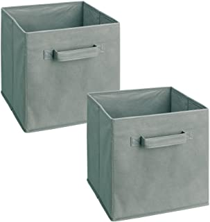 ClosetMaid 18657 Cubeicals Fabric Drawer, Gray, 2-Pack