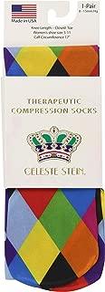 Celeste Stein Therapeutic Compression Socks, Mini Harlequin, 8-15 mmhg, .6 Ounce