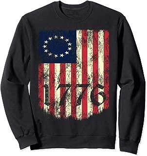 Betsy Ross Vintage Flag 1776 Patriot American Flag Sweatshirt