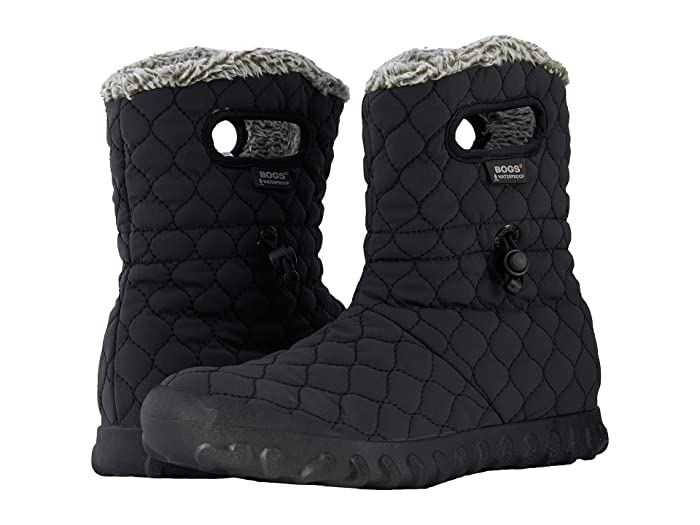 Bogs  B-Moc Quilted Puff (Black) Womens Waterproof Boots
