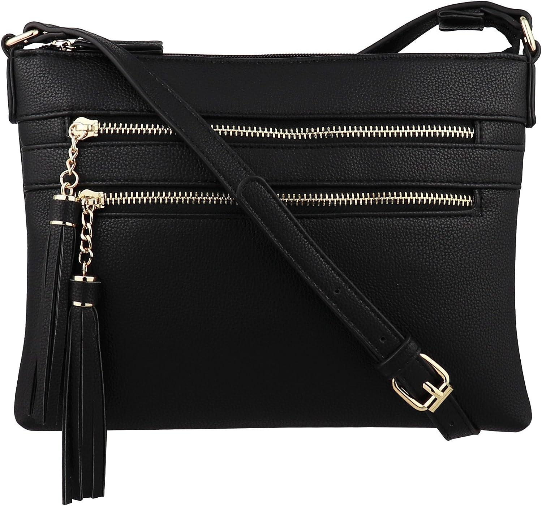 B BRENTANO Vegan specialty shop Multi-Zipper Crossbody with Purse Handbag Tasse Discount mail order