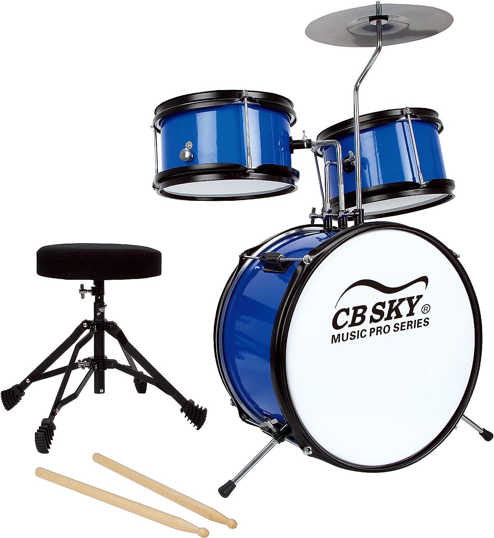 CB Sky 5teiliges Junior SchlagzeugSet, Schlaginstrumente für Kinder Musikalische Spielzeuge für Kinder Musikinstrumente für Kinder