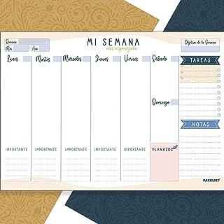PACKLIST Planificador Semanal. Organizador Semanal A4, Planning Escritorio - Weekly Planner Semanal, Regalo Original Mi Se...