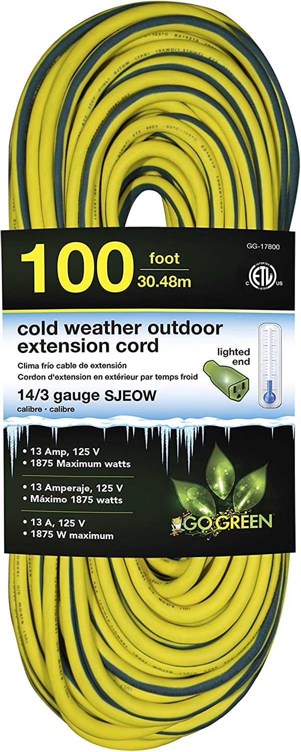 GoGreen Dedication Power GG-17800 14 3 100' SJEOW Very popular Cold Extension Co Weather