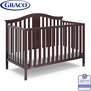 Storkcraft Graco Solano 4-in-1 Convertible Crib with Drawer, Assembly Required (Mattress Not Included), Espresso