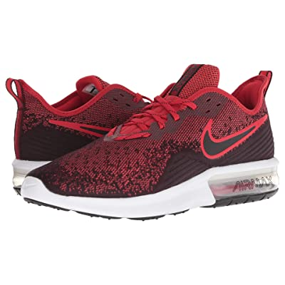 Nike Air Max Sequent 4 (Black/Black/University Red) Men
