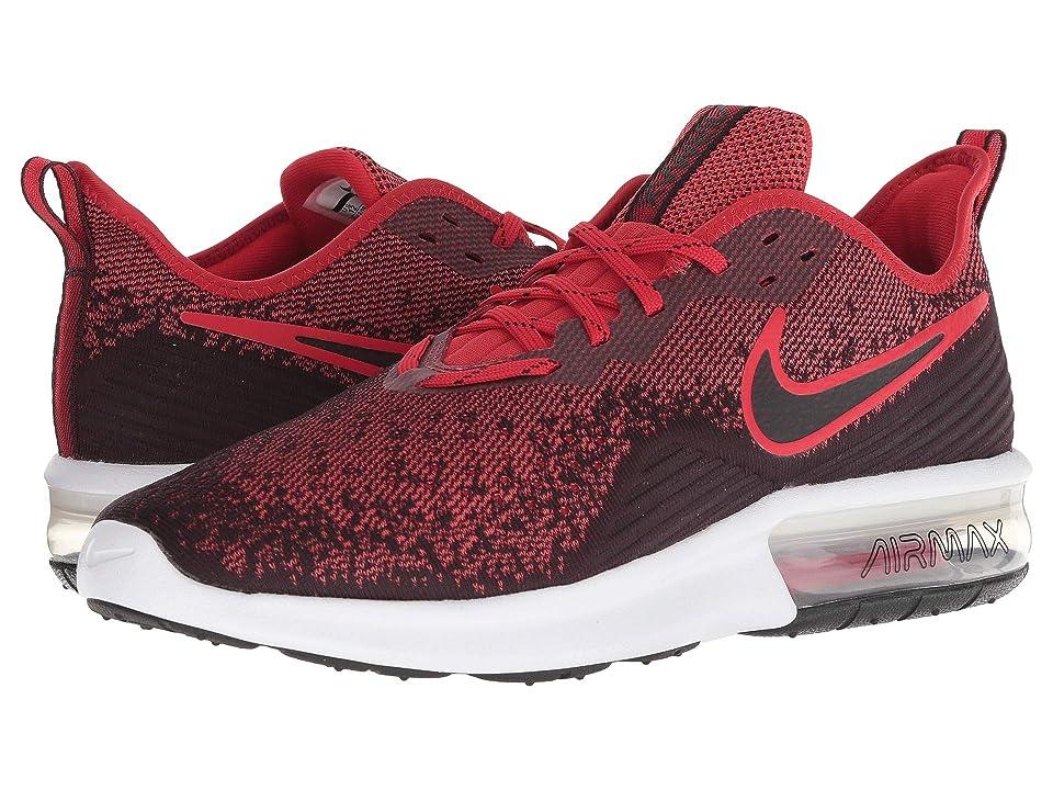 Nike Air Max Sequent 4 (Black/Black/University Red) Men