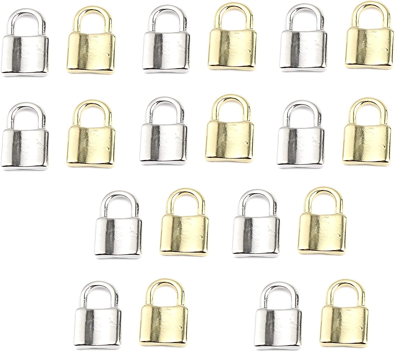 JGFinds Lock Charm Quality inspection Pendants 20 Pack 3 online shop 4 Silver Gold in Inch and