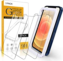 Arae Screen Protector for iPhone 12 / iPhone 12 Pro, HD Tempered Glass Anti Scratch Work with Most Case, 6.1 inch, 3 Pack