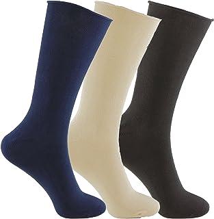 Calcetines SIN COSTURAS y SIN GOMA (3 pares) hombre. Calcetin alto, sin costuras y sin goma de primera calidad, evitan los roces y señales de presión.