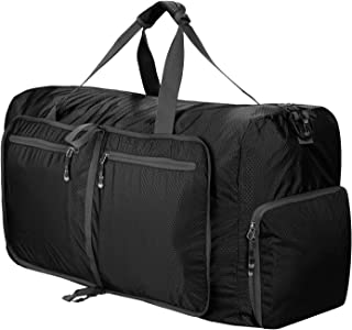 80L Packable Travel Duffle Bag Foldable Duffel Bags for Carry On Luggage Gym Sports Camping Travelling Storage Shopping Weekender Overnight Water & Tear Resistant Nylon for Man and Women