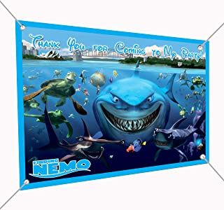 Finding Nemo Banner Group Photo Large Vinyl Indoor or Outdoor Banner Sign Poster Backdrop, Party Favor Decoration, 30
