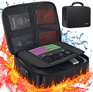 KeeQii Document Organizer - Fireproof File Organizer Bag with Lock,Multi Layer Document Bag for File Folders|Documents|Env...