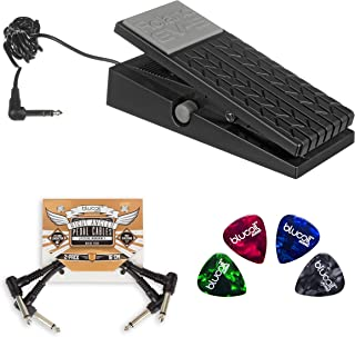 Roland EV-5 Expression Pedal Bundle with 2-Pack of Blucoil Pedal Patch Cables and 4 Guitar Picks