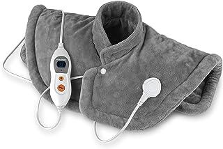VITALmaxx Warmtekussen nek, schouders, rug, elektrisch nekverwarmingskussen, rugverwarmingskussen & schouderwarmer [grijs]