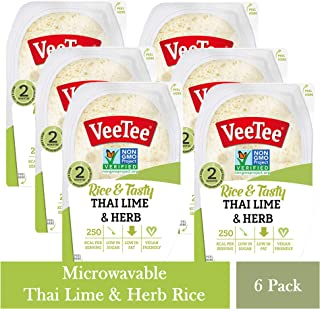 VeeTee Rice & Tasty Thai Lime & Herb - Microwavable Instant Rice - 10.6 oz - Pack of 6