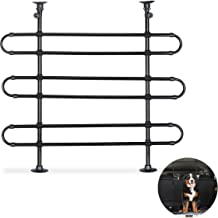 Relaxdays Dog Guard for Cars, to Clamp, Universal Safety Barrier, Adjustable Height & Width, Black, Steel, Plastic, 79 x 83 x 8 cm