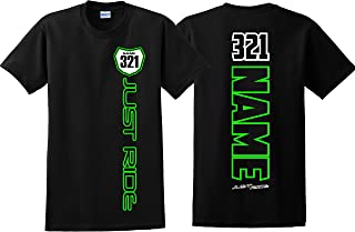 Youth Motocross Number Plate Shirt MX Moto Personalized