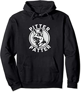 Funny Pitter Patter - Dog German Shepherd Dog Rescue Woof Pullover Hoodie