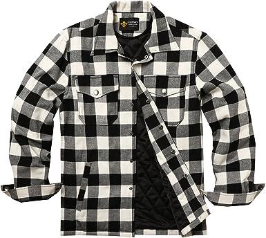 COOFANDY Camisa para hombre a cuadros forro interior de madera