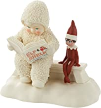 """Department 56 Snowbabies """"Elf on the Shelf Listens to a Story"""" Porcelain Figurine, 4.25"""""""