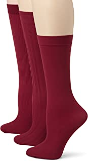 Angel Hosiery Women's 3 Pair Pack Ribbed Trouser Socks