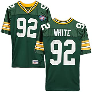Reggie White Green Bay Packers Autographed 75th Anniversary Jersey with