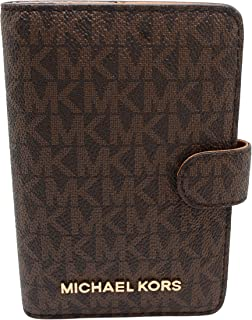 Michael Kors Jet Set Travel Passport Case Wallet (Brown PVC 2018)