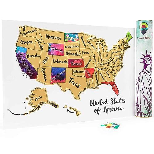 States Visited Map: Amazon.com