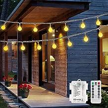 2 stuks van 15 m 100 LED-kerstverlichting op batterijen, OxyLED-kerstbal met kerstverlichting met timer met afstandsbedien...