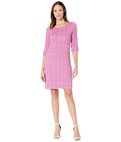 Hatley Lucy Dress (Triangle Stamps Pink) Women