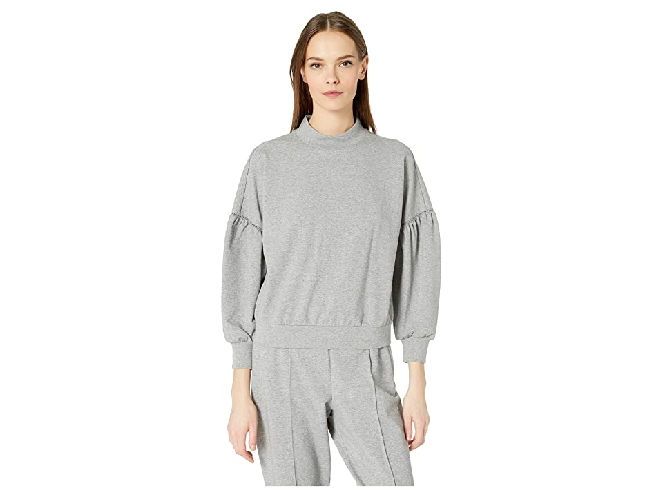 Kate Spade New York Athleisure Heart It Active Mock Neck Top (Flint Heather) Women