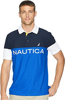 Navtech Short Sleeve Color Blocked Performance Polo