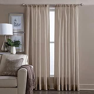 Wamsutta Cotton Sheer 95 Inch Window Curtain Panel in Linen