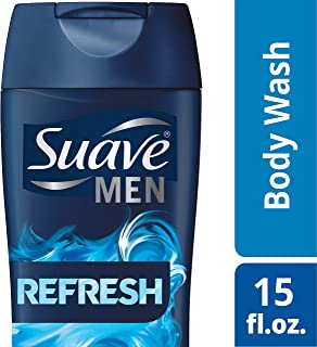 Suave Men Body Wash, Refresh, 15 Fl Oz